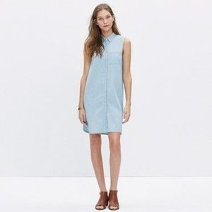 Madewell // sleeveless chambray shirt dress